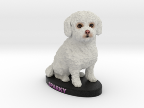 Custom Dog Figurine - Sparky in Full Color Sandstone