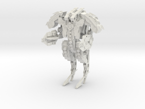 Steampunk Battle Droid Armored in White Natural Versatile Plastic