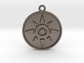 Digimon Crest of Courage in Polished Bronzed Silver Steel