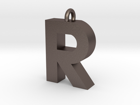 Alphabet (R) in Polished Bronzed Silver Steel