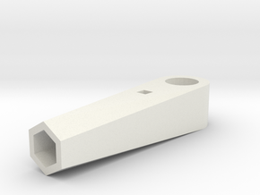 Pencil Horn for TowerPro Micro Servo in White Natural Versatile Plastic