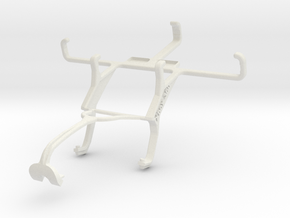 Controller mount for Xbox 360 & verykool s4002 Leo in White Natural Versatile Plastic