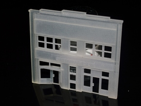 N-Scale City Hall Facade in Smooth Fine Detail Plastic