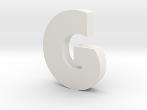 G Bauhaus Font  in White Strong & Flexible