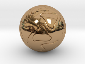 Star Sphere  in Polished Brass
