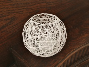 Net - Tea Light in White Natural Versatile Plastic
