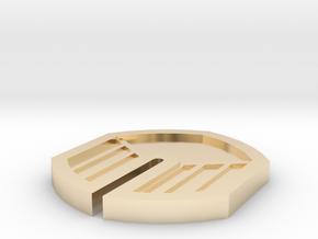Zephyr Badge - Pokemon Johto Badges in 14k Gold Plated Brass