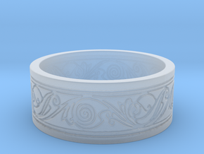 Viking Swirled Linework Ring in Smooth Fine Detail Plastic