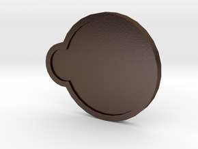 Storm Badge - Johto Pokemon Bagdes in Polished Bronze Steel