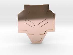 Rising Badge - Johto Pokemon Bagdes in 14k Rose Gold Plated Brass