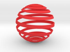 Loxodrome ornament in Red Processed Versatile Plastic