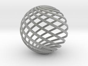 Loxodrome ornament 2 in Metallic Plastic