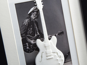 Gibson ES 335 guitar for photo frame in White Processed Versatile Plastic
