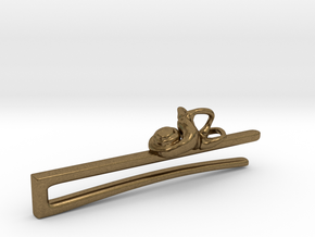 Anatomical Tie Clip with (Left) Cochlea in Natural Bronze