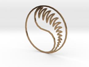 Aes Sedai Insignia - Outline in Natural Brass