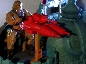 Castle Grayskull Prototype Turret Cannon Stand (Mi in Orange Processed Versatile Plastic