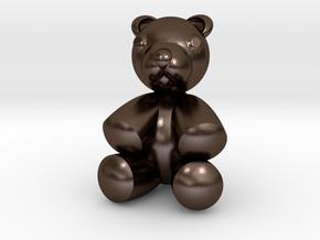 Teddy Bear 2'' in Polished Bronze Steel
