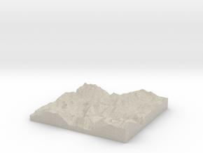 Model of Pierre & Vacances Alpe DHuez Les Bergers in Natural Sandstone