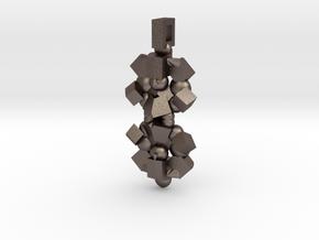 Pendulum in Polished Bronzed Silver Steel