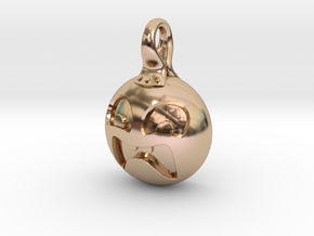 Scared in 14k Rose Gold Plated Brass