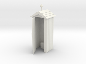 Outhouse Door Open - 'G' 22.5:1 Scale in White Natural Versatile Plastic