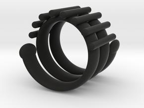 Snake Ring in Black Natural Versatile Plastic