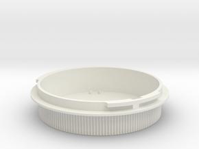 Rear lens cap for Icarex BM lenses in White Natural Versatile Plastic