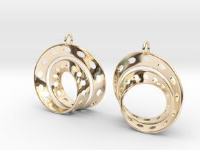 Fantasy-6-EarRings in 14k Gold Plated Brass