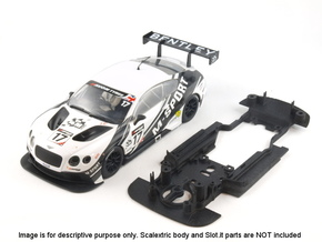 S06-ST1 Chassis for Scalextric Bentley GT3 STD/LMP in White Strong & Flexible