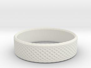 0212 Lissajous Figure Ring (Size6, 16.5mm) #017 in White Natural Versatile Plastic