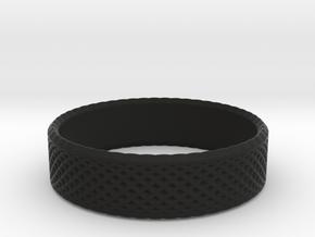 0213 Lissajous Figure Ring (Size6.5, 16.9mm) #018 in Black Natural Versatile Plastic
