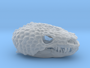 Gila Monster Skull Pendant -  30mm in Smooth Fine Detail Plastic