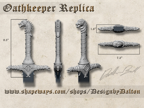 Oathkeeper Hilt Replica in White Strong & Flexible