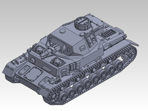 1/144 PzKpfw IV ausf.F in Smooth Fine Detail Plastic