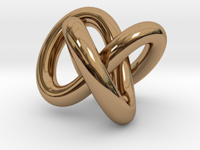 Necklace Infinity in Polished Brass