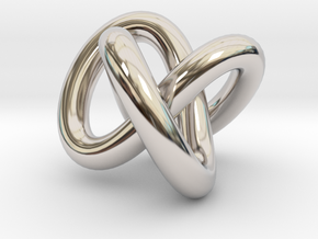 Necklace Infinity in Rhodium Plated Brass