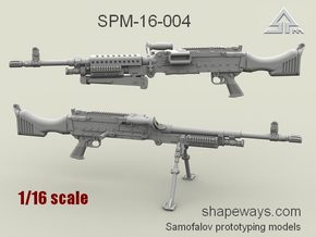 1/16 SPM-16-004 m240 machine gun in Frosted Extreme Detail