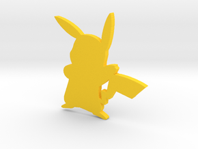 3D Pikachu in Yellow Processed Versatile Plastic