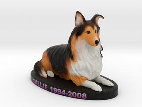 Custom Dog Figurine - Callie in Full Color Sandstone