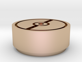 pokeball stamp in 14k Rose Gold