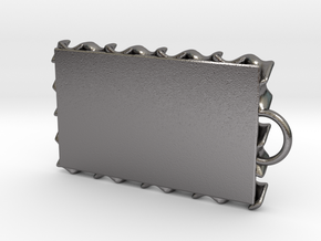 Gyroid Keychain in Polished Nickel Steel