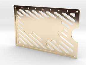 Card Wallet - Cat in 14k Gold Plated Brass