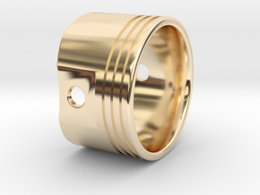 Piston Ring in 14k Gold Plated Brass
