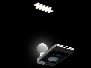 Lightclip: Swan, iPhone 4/4s in White Strong & Flexible