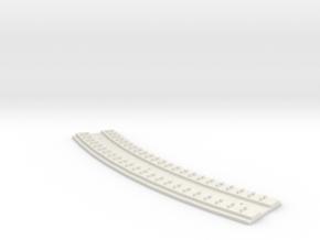 "HO Concrete Direct Fixtation 18""  Radius Track in White Natural Versatile Plastic"
