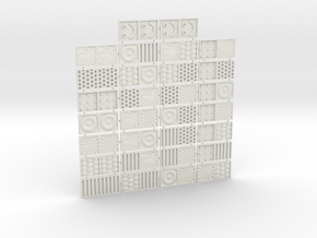 Tactile Texture Dominoes for the blind 1.0 in White Natural Versatile Plastic