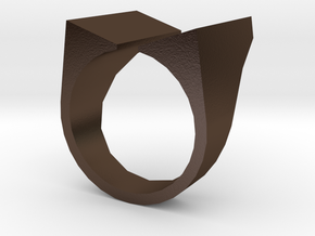 Open Top Ring in Polished Bronze Steel