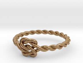 True Lover's Knot Ring - Size 6 1/2 in Polished Brass