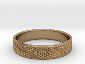 0219 Lissajous Figure Ring (Size11.5, 20.9 mm)#024 in Polished Brass