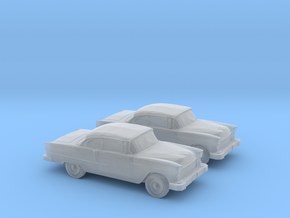 1/160 2X 1955 Chevrolet Belair in Frosted Ultra Detail